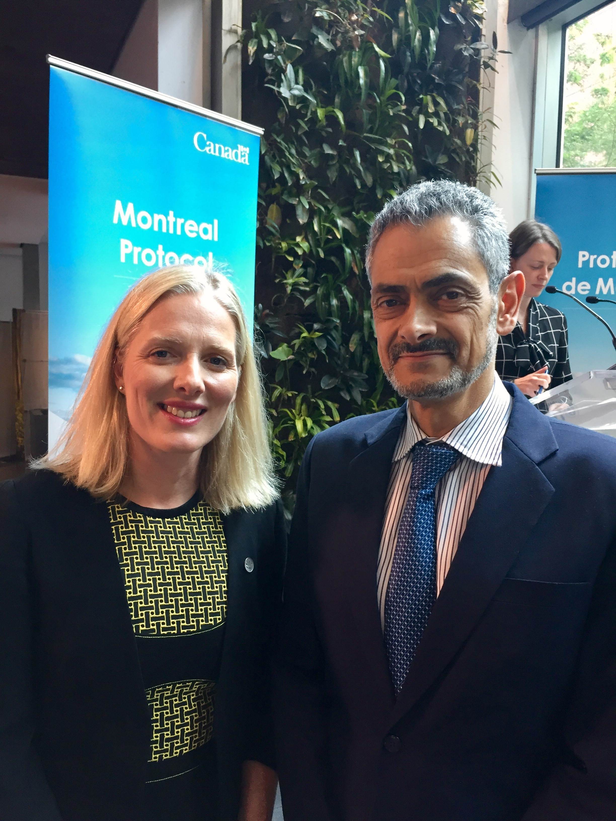 Hon. Catherine McKenna, Minister of Environment and Climate Change and Mr. Eduardo Ganem, Chief Officer of the Fund Secretariat - September 2017