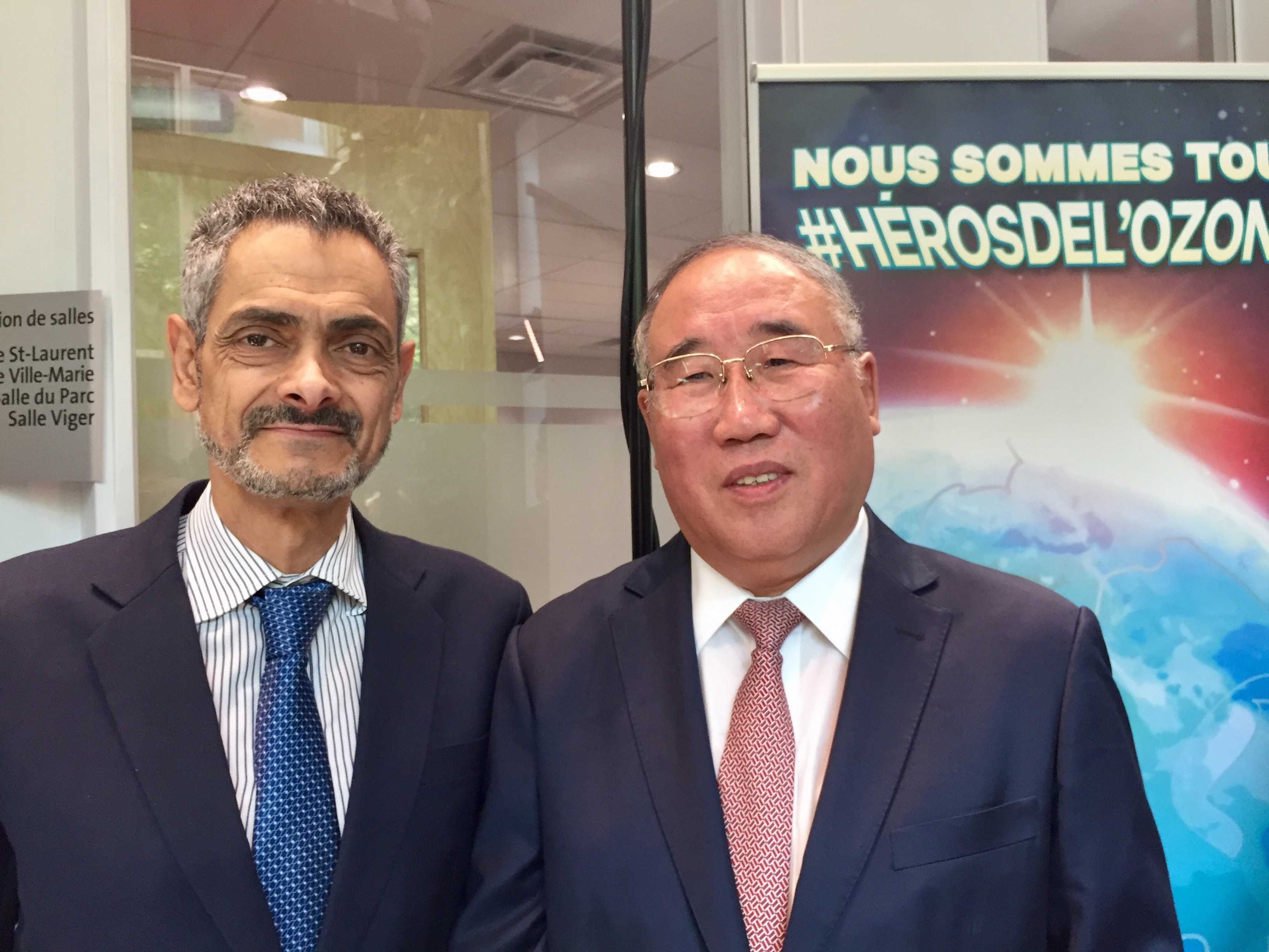 Mr. Eduardo Ganem, Chief Officer of the Multilateral Fund and Mr. Xie Zhenhua,  China's Special Representative for Climate Change - September 2017